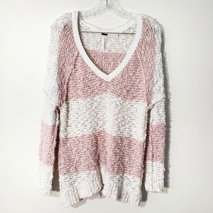 Free people open knit oversized sweater textured